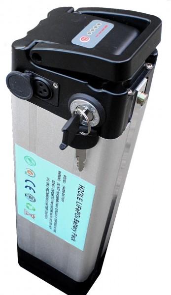 24V / 9AH / 220Wh Lithiumakku (LiFePo4), inkl. Aluminiumgehäuse