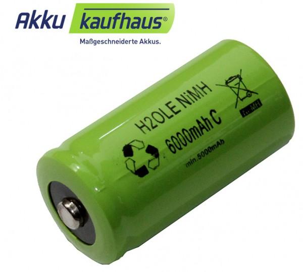 NiMH Babyakku C 1,2Volt 5500mAh, ersetzt handelsübliche Einwegbatterien