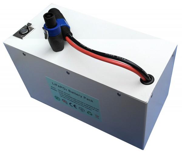Lithiumakku in stabilem Aluminiumgehäuse 36V / 25,5AH LiFePo4 - Akku inkl. 30A PCM + Ladegerät